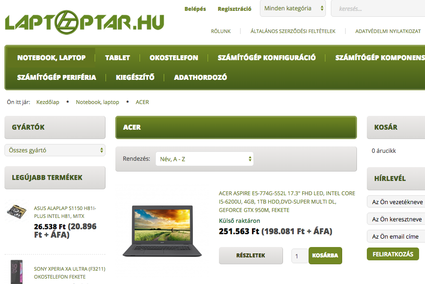 laptop webaruhaz